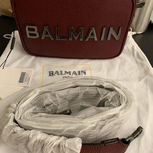 BALMAIN Crossbody Leather Purse